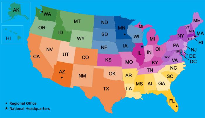 NPH USA Regions
