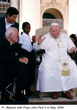 Fr. Wasson and Pope John Paul II