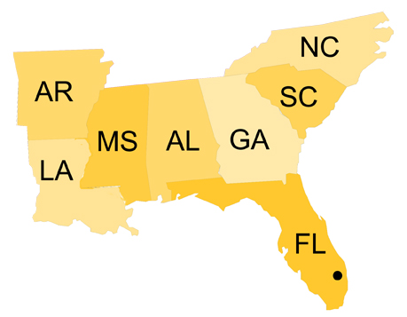 Southeast Region | NPH USA