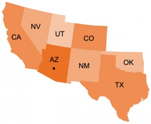 Map-US-SW