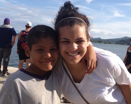Tatum Zeitchick visiting her Godson Alex at NPH Nicaragua