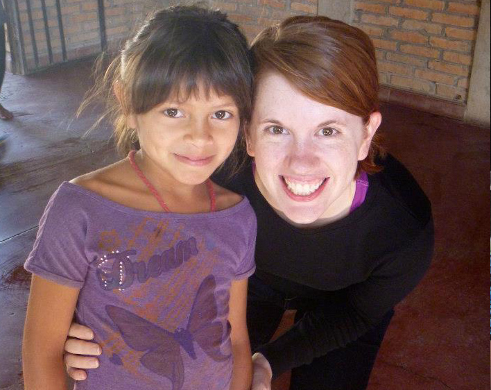 Allison Ahern with Goddaughter Martha in Honduras
