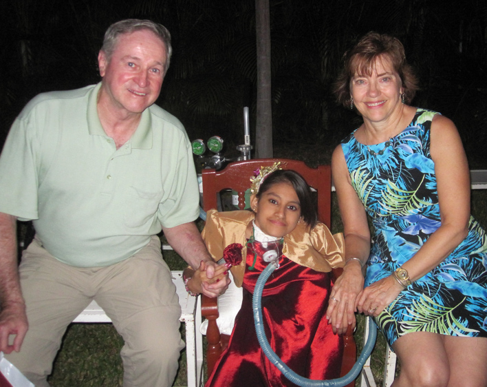 Tom and Cathy McQuillan with Goddaughter Wendy in El Salvador