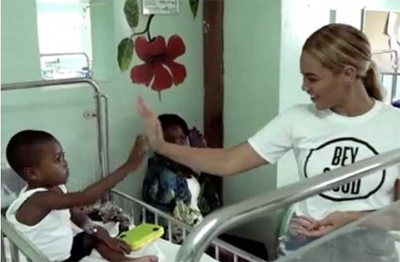Beyoncé Visits St. Damien Pediatric Hospital!