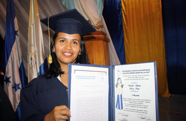 Sandra at her university graduation in 2011