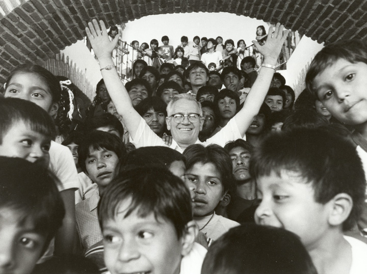 Father William Wasson at NPH Mexico, 1985