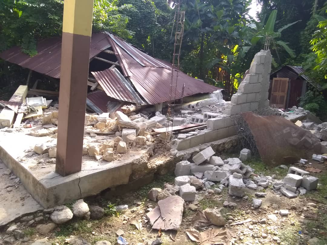 Earthquake damage in Les Cayes